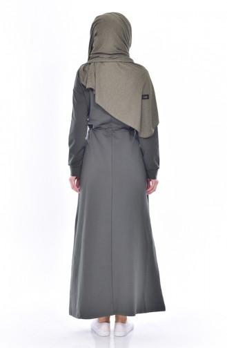 Robe İmprimée 8117-07 Khaki 8117-07