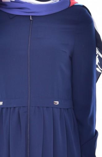 Pardessus Col Chemise 7601-01 Bleu Marine 7601-01