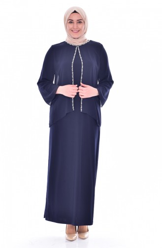 فستان بتصميم مزين بأحجار  6119-02
