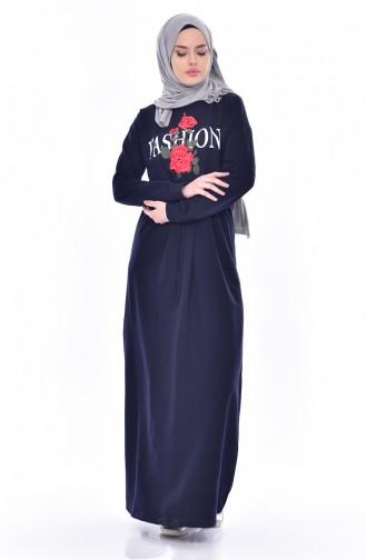 Robe Hijab Bleu Marine 8117-05