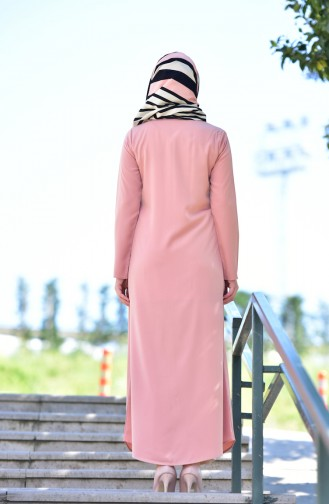 Abaya a Fermeture 6026-11 Poudre 6026-11