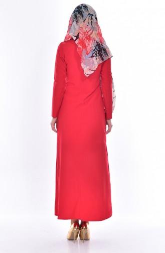Rot Hijap Kleider 0214-03