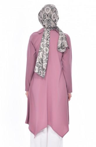 Shirt Collar Pleated Tunic 1162-11 Pink 1162-11