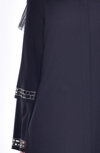Abaya İmprimée de Pierre Coupe Laser 35801-03 Noir 35801-03