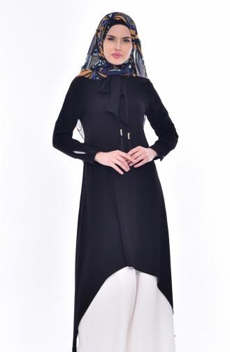 Tunique Détail Cravate 4876-01 Noir 4876-01