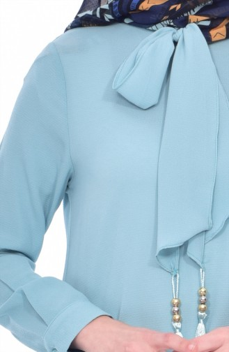 Tie Detailed Tunic 4876-06 Water Green 4876-06