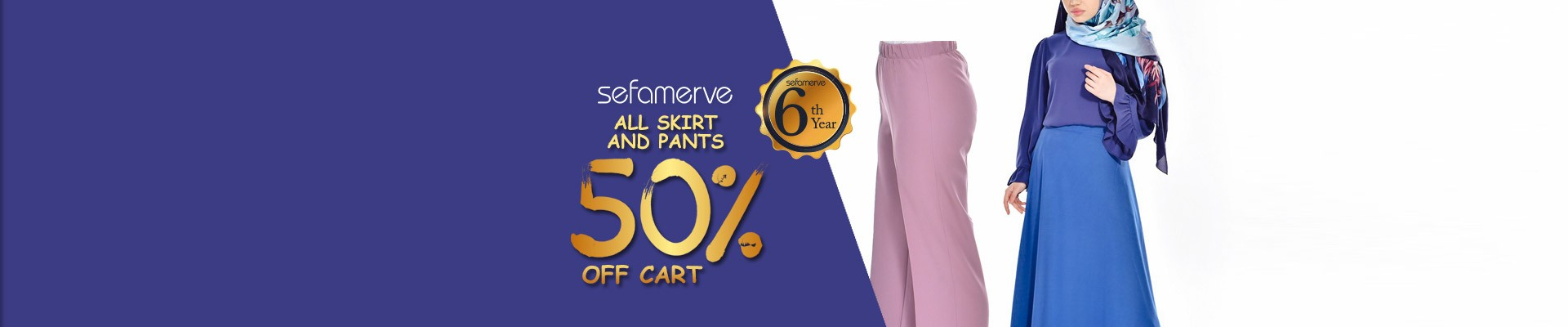 ALL SKIRT AND PANTS  50% OFF CART