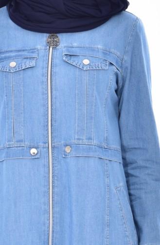 Longue Veste Jean 2006-02 Bleu Clair 2006-02