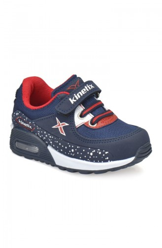 Kinetix 7P Largo Kids Sport Shoes 100243265 Navy Blue Red 100243265