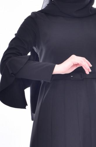 Kleid mit Volants 1083-04 Schwarz 1083-04