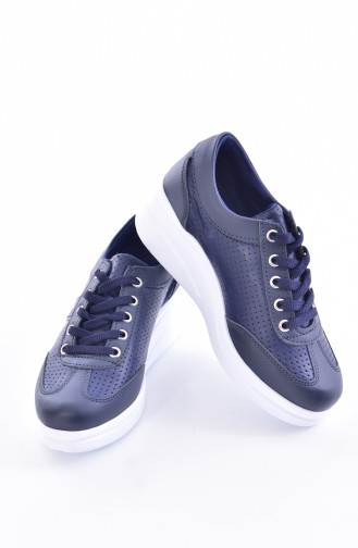 Sports Shoes With Platform 0102-06 Navy Blue 0102-06