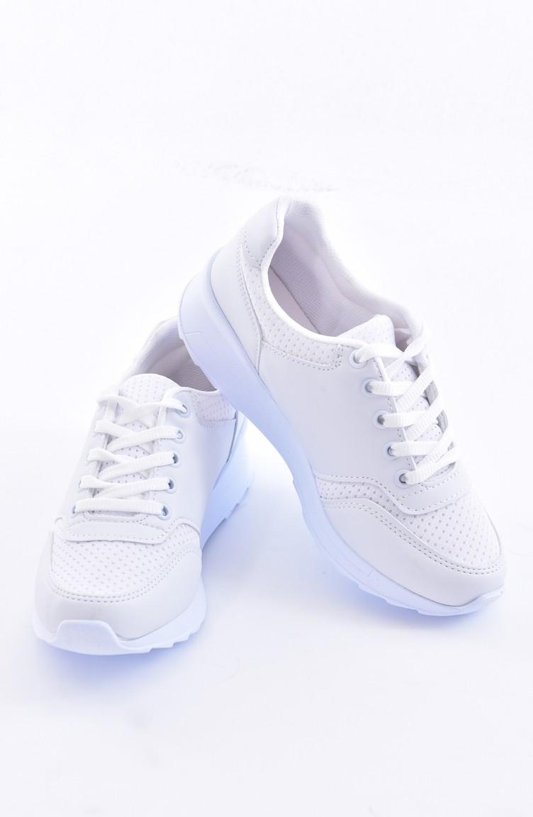 a11ac415253d6 Women´s Sports Shoes 0776-01 White Biege 0776-01