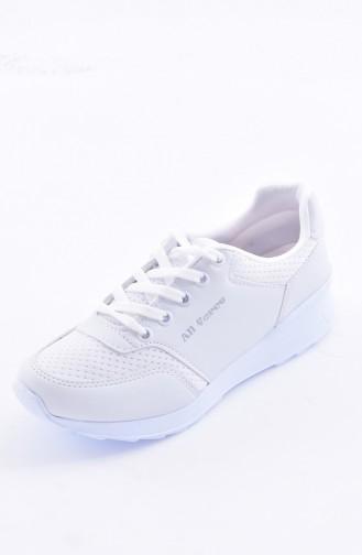 Women´s Sports Shoes 0776-01 White Biege 0776-01