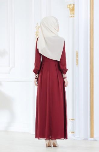 Robe Hijab FY 51983-22 Bordeaux 51983-22