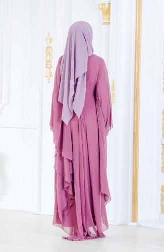Habillé Hijab Rose Pâle 52693-02