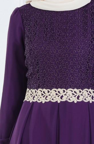 Robe Hijab FY 51983-23 Pourpre Foncé 51983-23