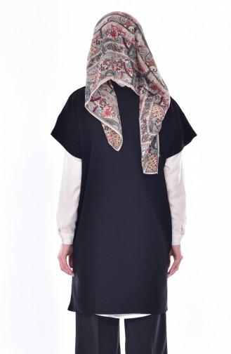 Knitwear Poncho 4545-05 Black 4545-05