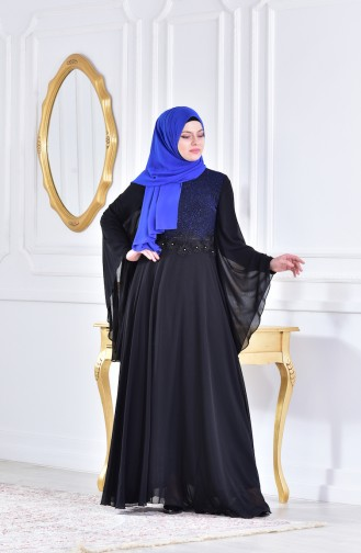 فستان محاك بتفاصيل بخيوط وتفاصيل لامعة  1713212-01