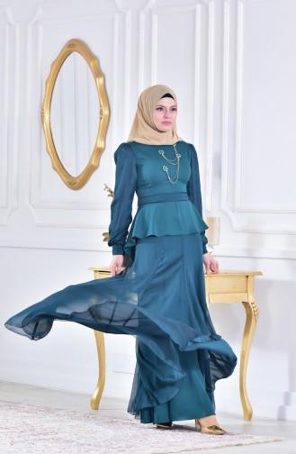 Green İslamitische Avondjurk 1413605-01
