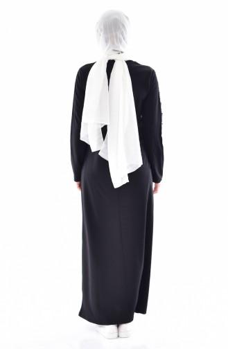 Striped Dress 99144-01 Black 99144-01