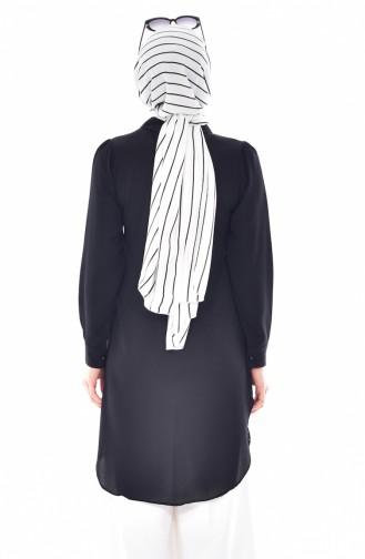 Tunique Perlées Col Bébé 4910-01 Noir 4910-01