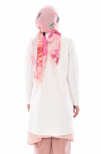 Veste a Motifs1503-01 Blanc 1503-01