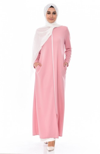 Abaya a Fermeture 0156-08 Poudre 0156-08