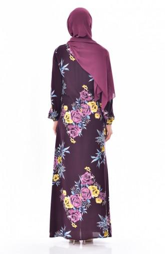 BENGISU Patterned Dress 5040-12 Cherry 5040-12