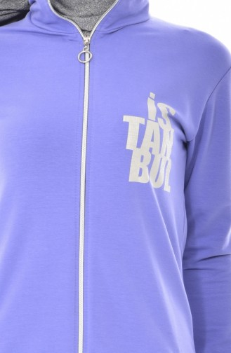Printed Tracksuit Team 17007-16 Lilac 17007-16