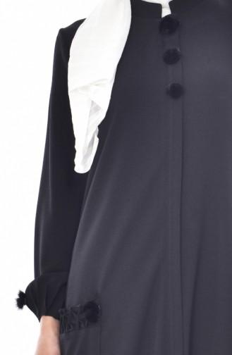 SUKRAN Pocket Pleated Cape 35804-01 Black 35804-01