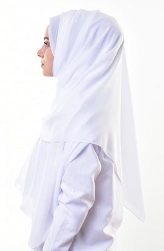 Plain Chiffon Shawl 901274-11 White 11