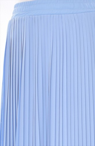 BWEST Pleated Skirt 8149-05 Baby Blue 8149-05