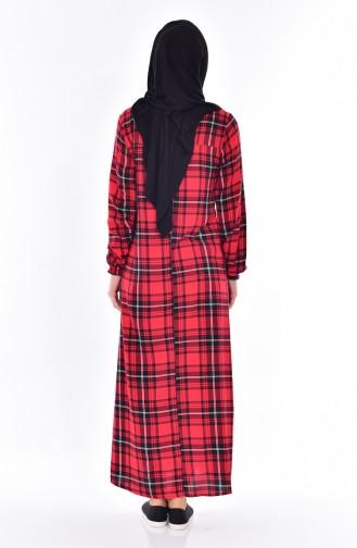 Robe a Carreaux 6017-04 Bordeaux 6017-04