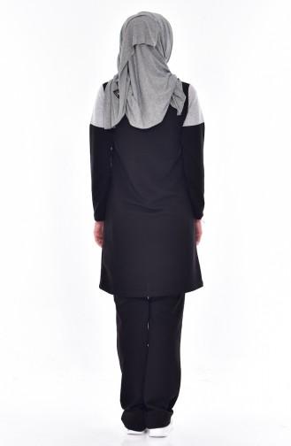 Eşofman Takım 0384-01 Siyah