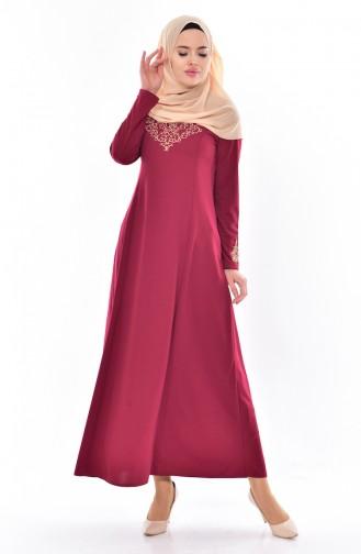 فستان أحمر كلاريت 4401-12