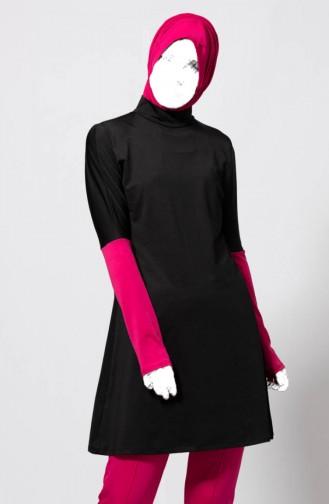 Maillot de Bain Hijab Garni 1838-01 Fushia 1838-01