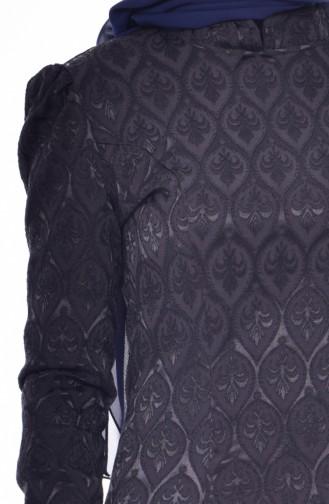 فستان بتصميم مزخرف مع سحاب  7174-02