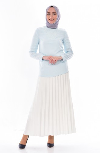 Mint Blue Blouse 1160-04