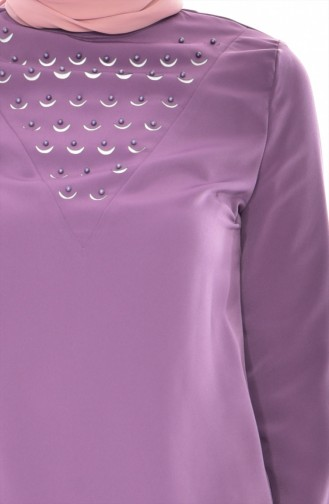 Bluse mit Perlen 1160-05 Lila 1160-05