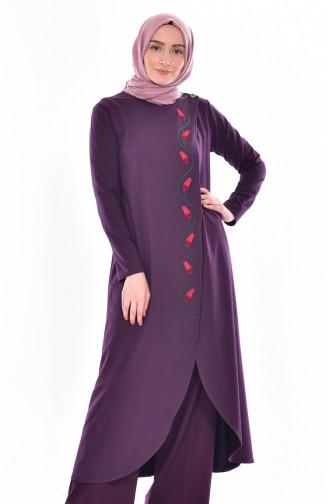 TUBANUR Embroidered Tunic 2942-03 Purple 2942-03