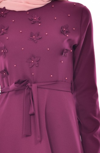 Robe a Ceinture 1085-01 Plum 1085-01