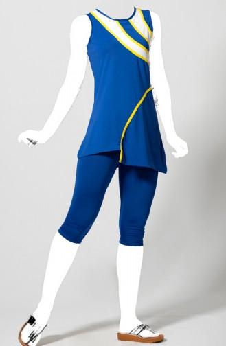 Maillot de Bain Garni 1803-02 Bleu Roi 1803-02