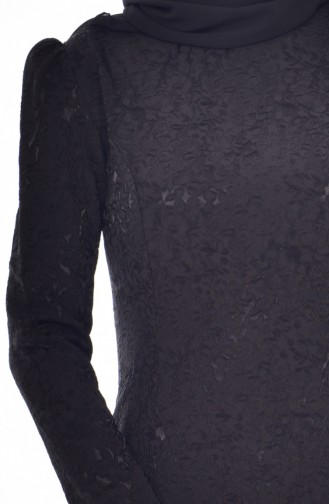 Robe Jacquard 7174-01 Noir 7174-01