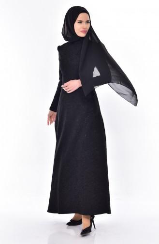 Robe Jacquard 7175-01 Noir 7175-01