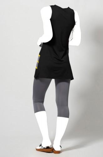 Black Swimsuit Hijab 1806-02