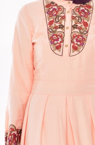 Embroidered Dress 2019-01 Salmon 2019-01