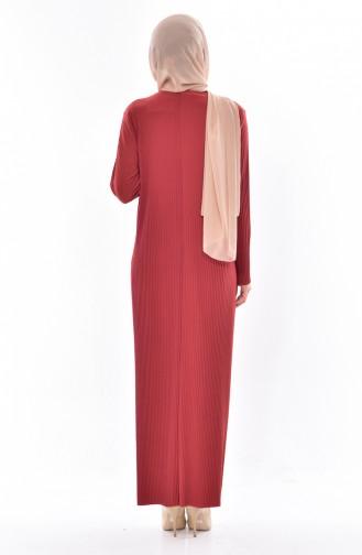 فستان أخضر تبغ 50844-07