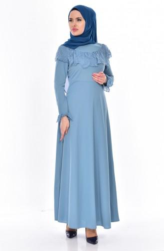 فستان أزرق فاتح 0524-05