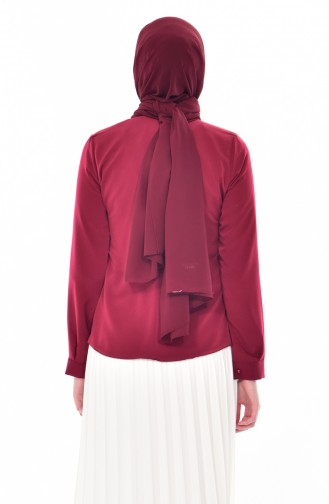 Claret red Blouse 0805-02