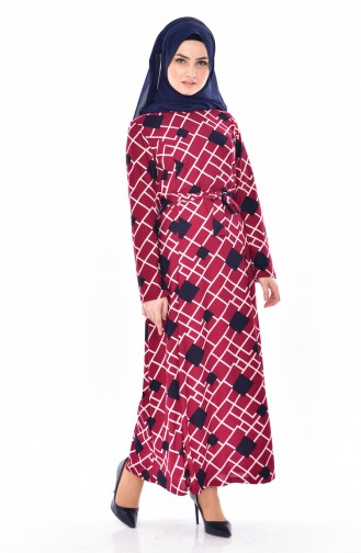 Claret red Dress 4804-01